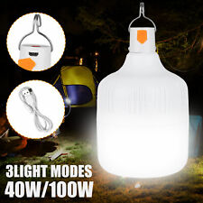 40/100W LED Camping Light USB Rechargeable Outdoor Tent Lamp Hiking Lantern Lamp