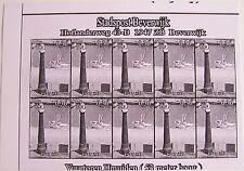 Stadspost Beverwijk 2007 - Vuurtorens IJmuiden (Lighthouses) zwartdruk, proef 2