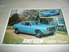 Datsun Cherry FII Coupe brochure c1981