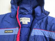 Blue Columbia Winter Jacket Girls Large 10/12 Pink Rain Wind Breaker Coat 75