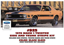 925 1970 FORD MUSTANG MACH 1 - TWISTER SPECIAL - SIDES and TRUNK STRIPE KIT