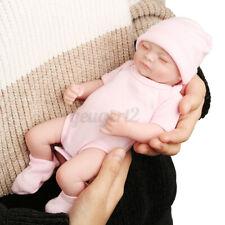 28CM Puppenbaby Baby Puppe Lebensecht Handgefertigt Weich Vinyl Mädchen DH
