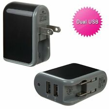 2.1Amp Strong Dual USB Wall Home Travel Charger Accessory Blue for Cell Phones