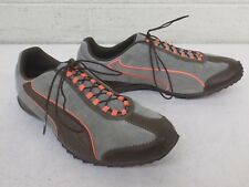 Puma Gray & Brown Patterned Running Shoes US Women's 7 EU 37.5 EXCELLENT LOOK