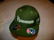 Rocawear Army Green Hat w/ Stars 20% Wool Fitted 7 3/4