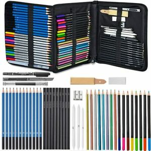 Glokers 71-Piece Arts Supplies and Drawing Kit Set Complete Set of Art Pencils
