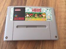 Super Nes :      CANNON FODDER        Super Nintendo     PAL EUR