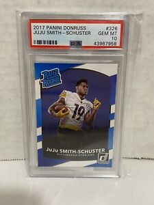 2017 PANINI DONRUSS #326 JUJU SMITH-SCHUSTER RC STEELERS PSA 10 F3001122-761