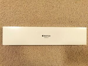 Apple Watch Series 3 (GPS) 38mm Space Grey Aluminum Case Sport Band Black NEW