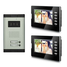 2 Units Apartment Video Door Phone Doorbell Audio Visual Intercom Entry System