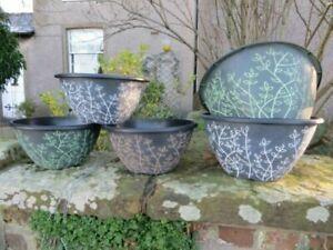 30cm Large Planter Pot Serenity Plastic Plant Flower Herb Bowl Garden Home Decor