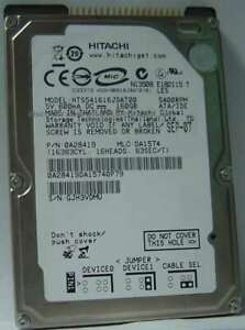 "160GB 2.5"" IDE HTS541616J9AT00 Hitachi 9.5mm 44PIN 5400RPM Hard Drive Tests Good"