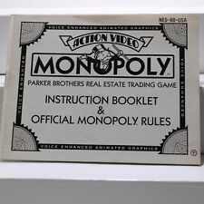 Nintendo NES Manual only - Monopoly