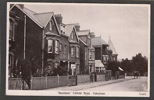 Postcard Felixstowe nr Ipswich Suffolk house Hazeldene in Cobbold Road 1908 RP