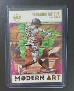 2021 PANINI DIAMOND KINGS FERNANDO TATIS JR MODERN ART SSP #MA-7 PADRES