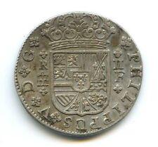 ESPAGNE PHILIPPE V (1700-1746) 2 RÉALES 1723 SEGOVIA VARIÉTÉ 3 SUR 2
