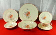 "65-PIECES (OR LESS) OF UNIVERSAL POTTERIES ""POPPY"" PATTERN - FOR SEARS & ROEBUCK"