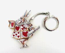 Herald Rabbit Keyring Tenniel Carroll Alice in Wonderland Literary Xmas Gift