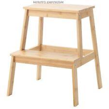 NEW IKEA Tenhult Wooden Step Stool Kitchen Home Bar Shop