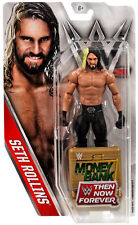 Wwe Seth Rollins Then Now Forever Exclusive Figure Gold Mitb Briefcase 2016 New