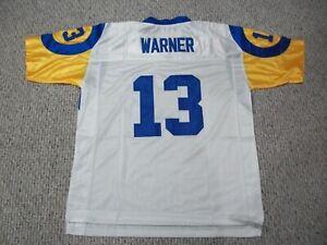 KURT WARNER Unsigned Custom St. Louis White Sewn New Football Jersey Sizes S-3XL