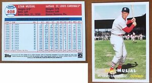 2011 Topps 60 Years Of Topps Lost Cards Stan Musial #60YOTLC-10 Original 1957
