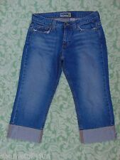 Old Navy Brand Low Waist Capri's Pedal Pushers Cuffed Classic 5 Pocket Size 8