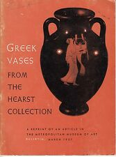 Greek Vases from the Hearst Collection Metropolitan Museum of Art Article 1957