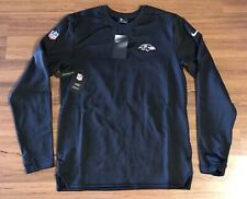 Nike Nfl On Field Baltimore Ravens Long Sleeve Pullover Sweatshirt Mens Sz Small