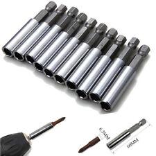 """10Pcs 60mm Magnetic Screwdriver Extension Bit Tips Holder 1/4"""" Hex Shank Set Usa"""