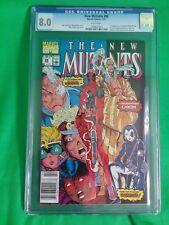 8.0 CGC Graded The New Mutants #98 1st Appearance Of DEADPOOL