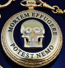 Memento Mori Doctor's Skull watch Rare Gild,Enamel&1.2ct Diamonds Patek Philippe