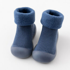 Kids Baby Girls Boys Toddler Anti-slip Slippers Socks Shoes Winter Warm Boots UK