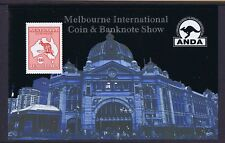 #MS184a) Mini Sheets 2013 $10.00 ANDA Coin and Banknote Show, Melbourne, MNH