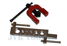 2 Pc Flaring Tool Set Tubing Pipe Dies Tools 3/16-5/8 Flare Air Brake Line NEW