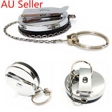 Heavy Duty Metal Chain Retractable Pull Key Ring Clip Belt Steel Id Card Holder