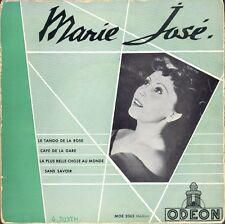 MARIE-JOSE LE TANGO DE LA ROSE / 1ère POCHETTE 45T EP ODEON MOE 2065