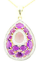 Stratify ™ African Amethyst 4.10 Ctw. 18K Rose Gold Over Sterling Silver Pendant