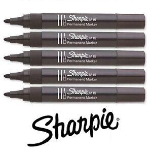 Sharpie M15 Permanent Marker Black Bullet Nib Pen Thick Tip Strong Durable