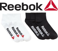 REEBOK Unisex Essentials Training Ankle Length Socks Quarter Pack Of 3 Size 6-11