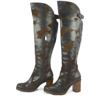 """Donald J Pliner Womens """"Taria"""" Brown Oiled Suede Tall Above The Knee Boots 11M"""