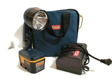 Ryobi P700 Flashlight Adjustable Beam  Battery Charger Case Bulb Hand Tool