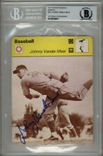 JOHNNY VANDER MEER SIGNED #06-24 SPORTSCASTER CARD ENCAPSULATED BECKETT BAS