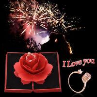 100Sprachen Ich liebe dich Ring In Rose Ring Box Geschenk für Hochzeit Muttertag