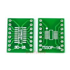 5pcs SO16 SSOP16 TSSOP16 SOIC16 MSOP16 to DIP16 Adapter Converter PCB Board 246