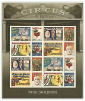 USA 2014 Vintage Circus Posters Sheetlet of 16 Stamps Forever Self-adhesive MUH