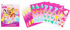 Princess Party Supplies Favours STICKERS ( 9 Pages ) 111 Stickers In Total