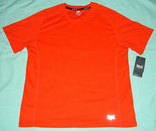 Everlast Cherry Tomato Orange Fitness Short Sleeve Shirt  - M - NWT
