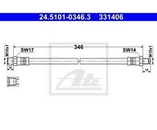ATE Brake Hose 24.5101-0346.3
