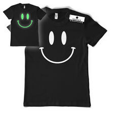 Smiley Face Glow in the Dark T-Shirt | Acid, Club, Festival, Glowing, Rave